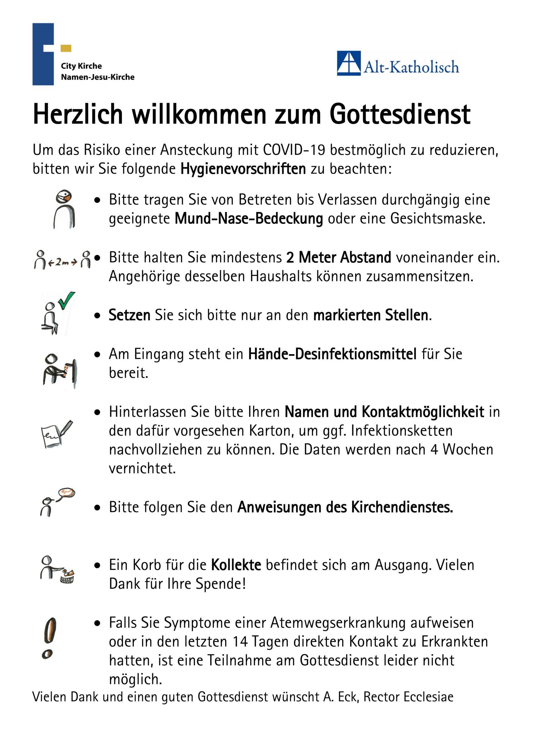 Poster Hygieneregeln