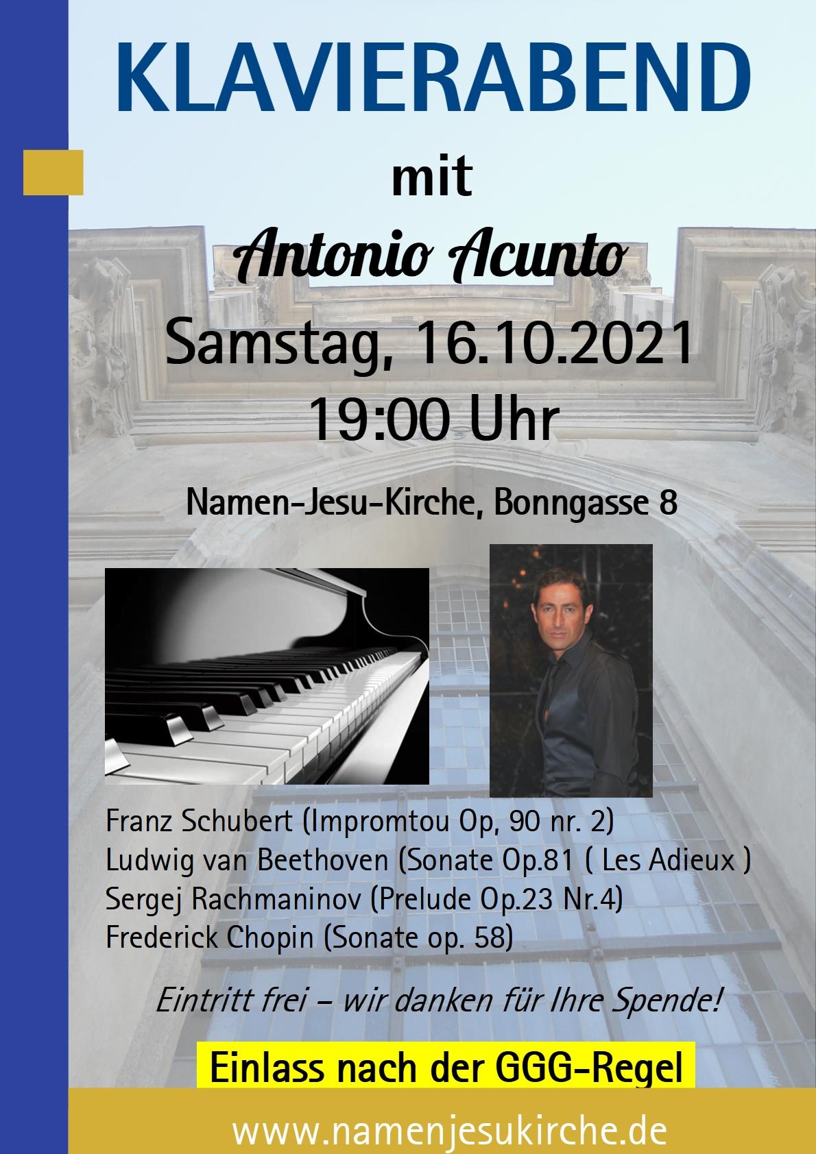 Plakat Klavierabend