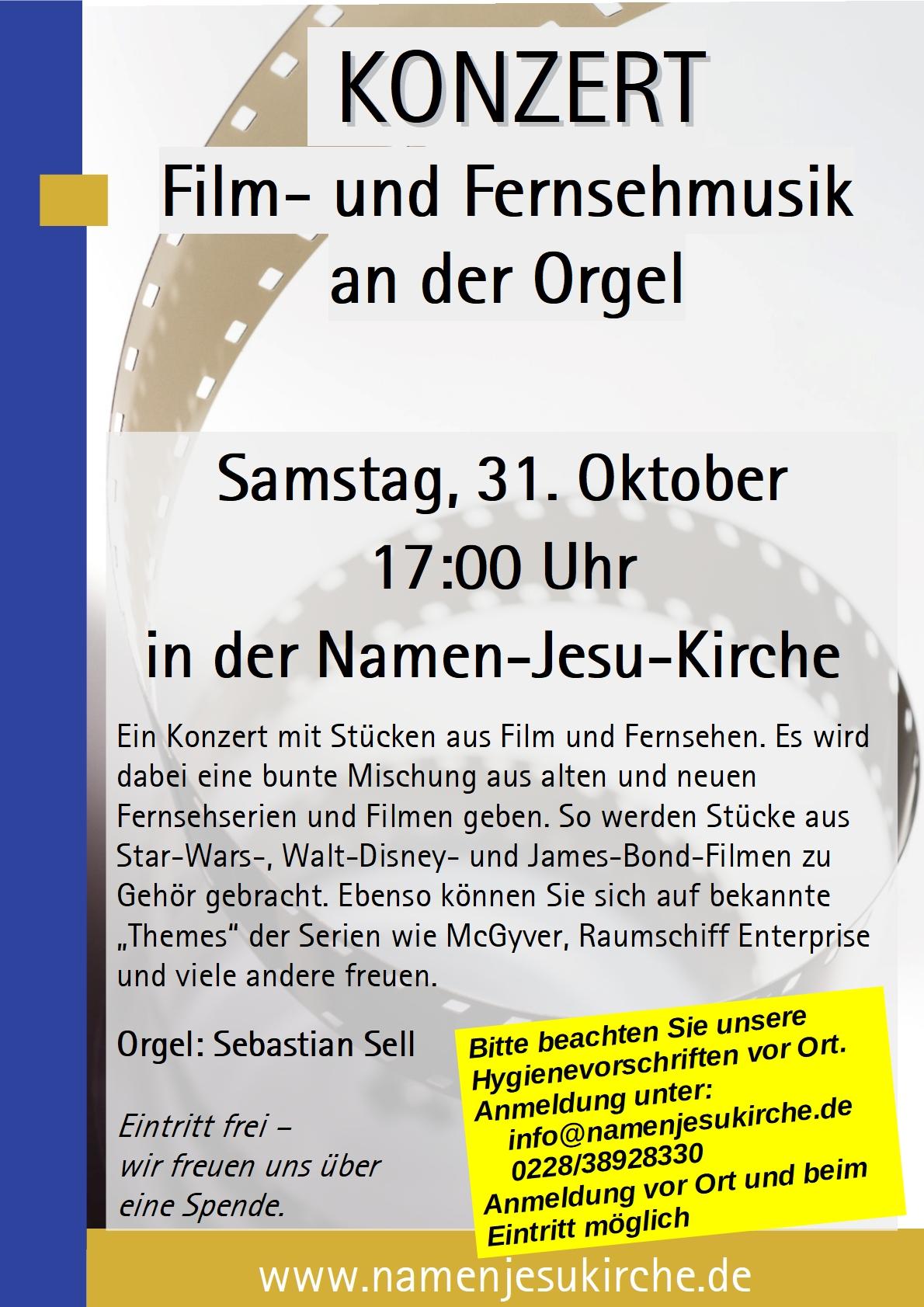 Plakat Orgelkonzert